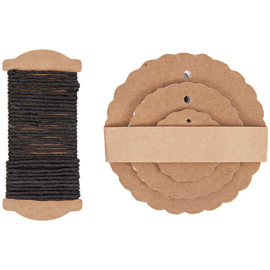 30 Gift Tags Rossete, Kraft Paper, wrapping rope