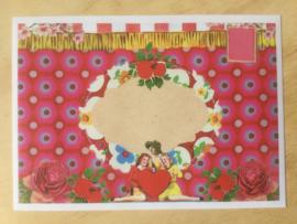 Enveloppe 3 dames hart mét of zonder bijzondere kaart en sluitzegel