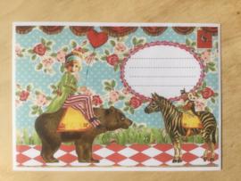 Enveloppe circus, theater mét of zonder bijzondere kaart en sluitzegel