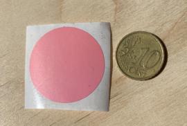 Ronde stickers 3 cm roze per 1, 5, 10, 25, 50 of 100 stuks, vanaf