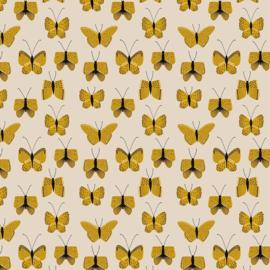5 x Inpakzakjes - Butterfly - Yellow - 12x19 cm
