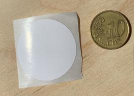 stickers 3 cm wit per 1, 5, 10, 25, 50 of 100 stuks, vanaf