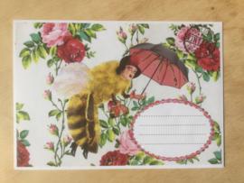 Enveloppe bijen freule mét of zonder bijzondere kaart en sluitzegel