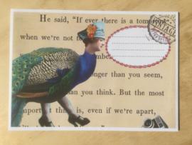 Enveloppe pauw mét of zonder bijzondere kaart en sluitzegel