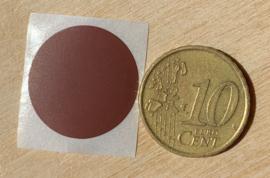 Ronde stickers 2 cm donker bruin per 1, 5, 10, 25, 50 of 100 stuks, vanaf