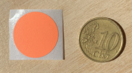 Ronde stickers 2 cm helder oranje per 1, 5, 10, 25, 50 of 100 stuks, vanaf