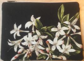 Etui tasje witte bloemen en kever