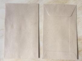 1 Bruin envelop loonzakje 6,5 cm bij 10,5 cm
