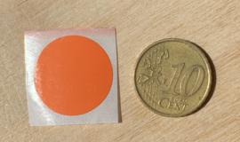 Ronde stickers 2 cm oranje per 1, 5, 10, 25, 50 of 100 stuks, vanaf
