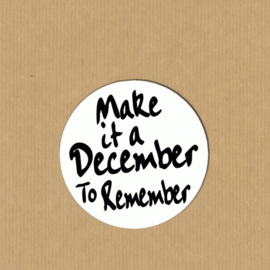 5 'make it a december to remember'-stickers rond 3, 9 cm