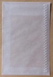 ZIG ZAG RAND 10 Pergamijn enveloppen of bruine loonzakjes