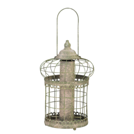 AM green squirrel proof seed feeder