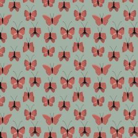 5 x Inpakzakjes - Butterfly - Red - 12x19 cm