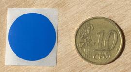 Ronde stickers 2 cm donker blauw per 1, 5, 10, 25, 50 of 100 stuks, vanaf