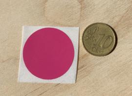 Ronde stickers 3 cm fuchsia/licht paars/rose per 1, 5, 10, 25, 50 of 100 stuks, vanaf