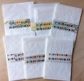 STIPPEN RAND 10 Pergamijn enveloppen of bruine loonzakjes