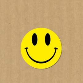 5 Smiley stickers rond 4,7 cm