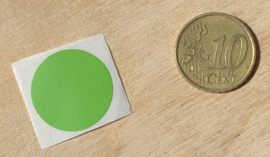 Ronde stickers 2 cm helder groen per 1, 5, 10, 25, 50 of 100 stuks, vanaf
