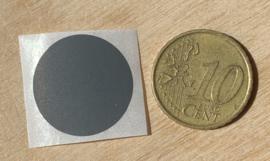 Ronde stickers 2 cm donker grijs per 1, 5, 10, 25, 50 of 100 stuks