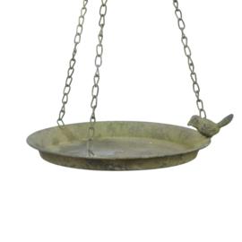vogelbad vogelschaal Aged Metal Green hangend