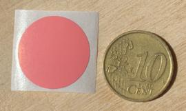 Ronde stickers 2 cm roze per 1, 5, 10, 25, 50 of 100 stuks, vanaf