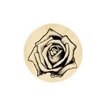 Natürliche Rose groß 19 mm