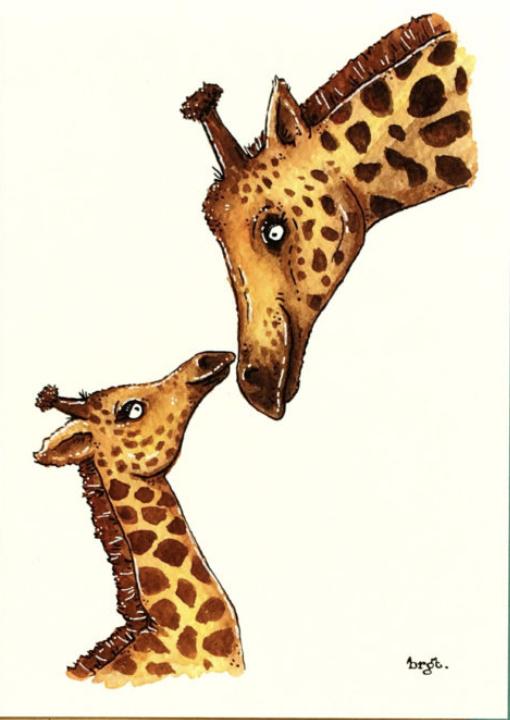 Giraffe kus