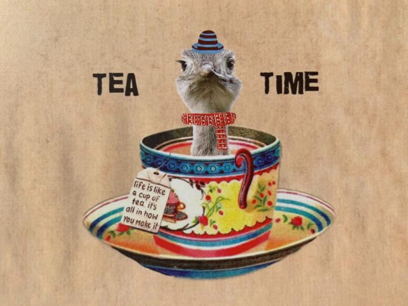 CT 142 ansichtkaart, Tea time