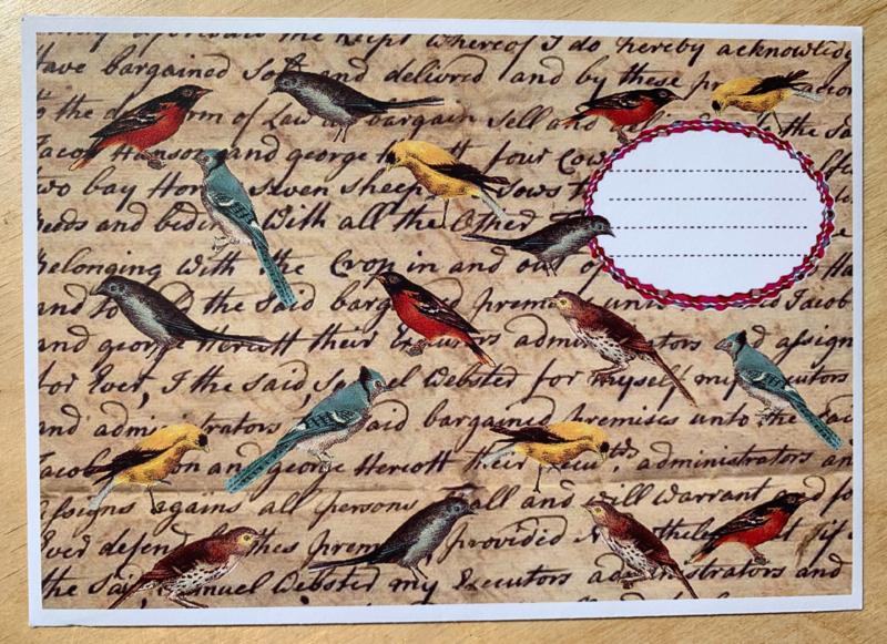 en-Flopje vogels mét bijzondere kaart en sluitzegel