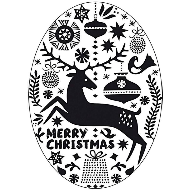 Merry Christmas, ovaal