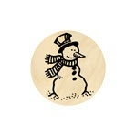 Blije sneeuwpop groot 19 mm