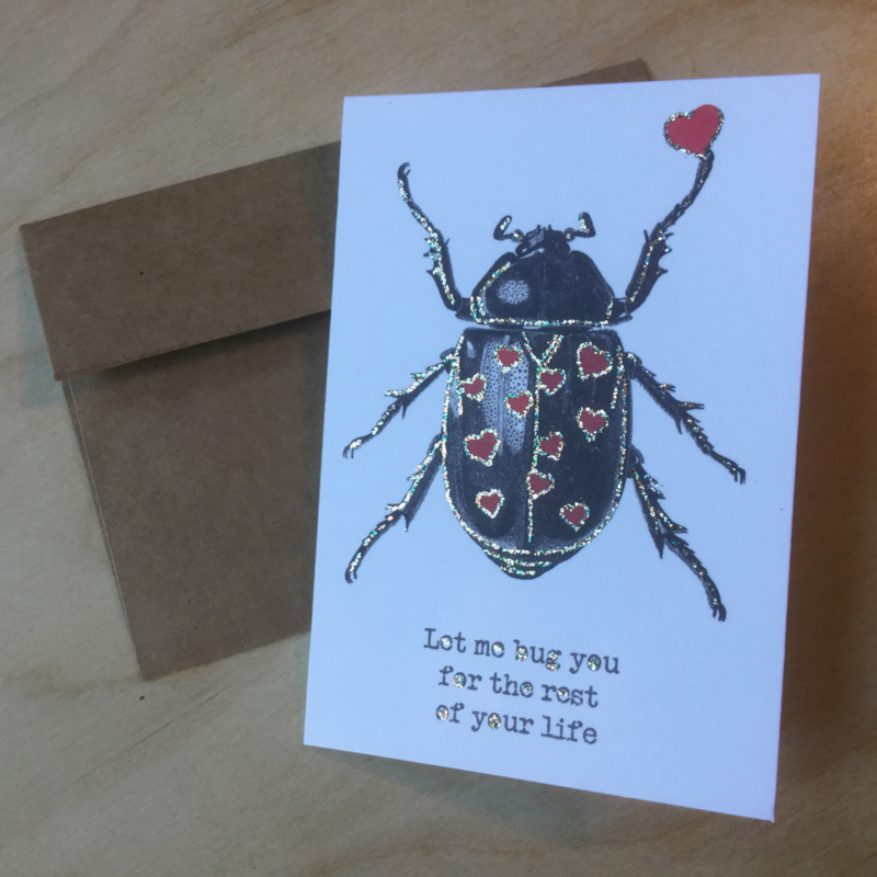 Wenskaart: Let me bug you for the rest of your life