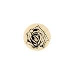 Natuurgetrouwe roos klein 13 mm