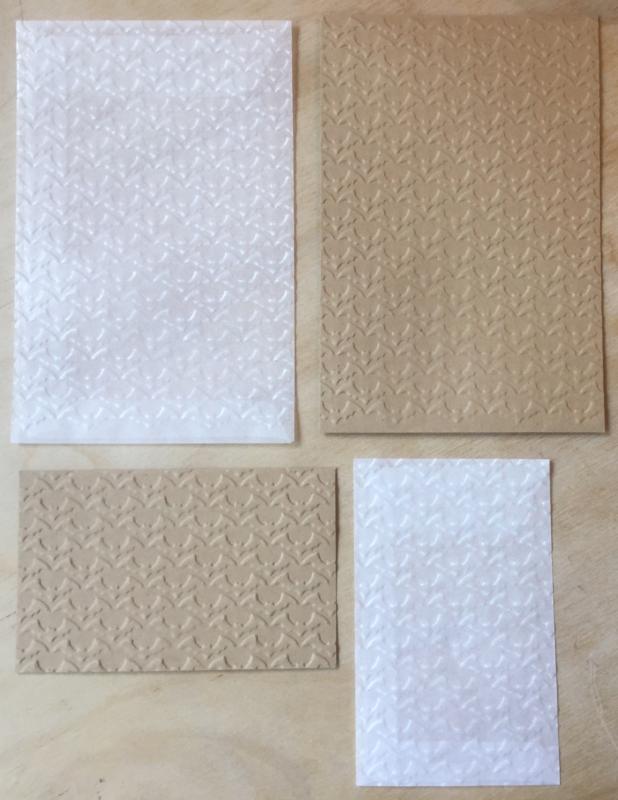 VLEERMUIZEN 10 Pergamijn enveloppen of  bruine loonzakjes