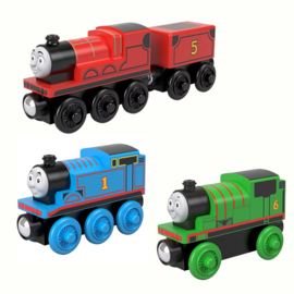 3-pack Thomas, Percy en James wood
