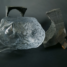 Glass Blow Test including cast iron mold