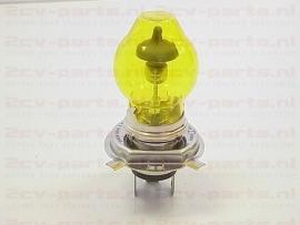 Gloeilamp H4 55/60 watt 12volt geel (met kapje)