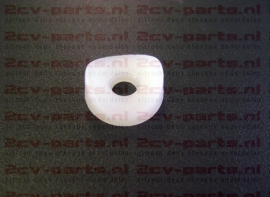 Wit plastic onder drukkertje
