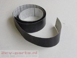 Plakbies smal (voorbumper of achterbumper smal) zwart 2cv