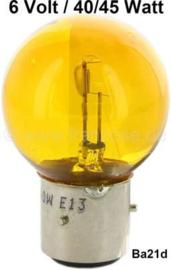 Gloeilamp 6 volt 40/45 watt geel