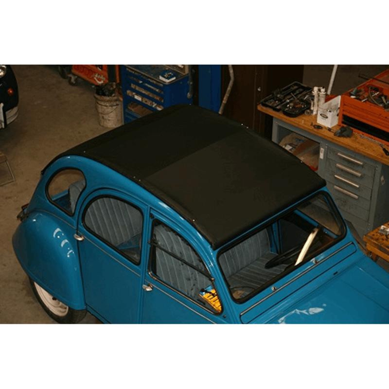 Linnendak zwart special (buiten sluiting) met achterruit verwarming Parts industries