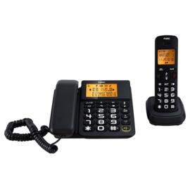 Combi telefoon met grote toetsen en luid volume voor senioren