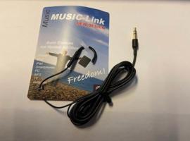 Music Link ringleiding, oorhaak mono