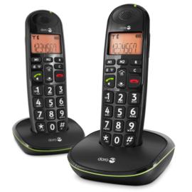 Loop telefoon voor slechthorenden (gehoorapparaat), Doro PhoneEasy 100w Duo zwart