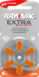 Hoorbatterijen Rayovac oranje R13 voor hoortoestellen, Rayovac Extra Advanced