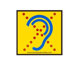 Sticker voor slechthorenden, Limited Hearing reflecterende sticker