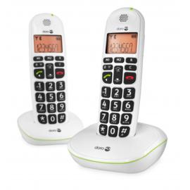Loop telefoon voor slechthorenden, Doro PhoneEasy 100w Duo wit