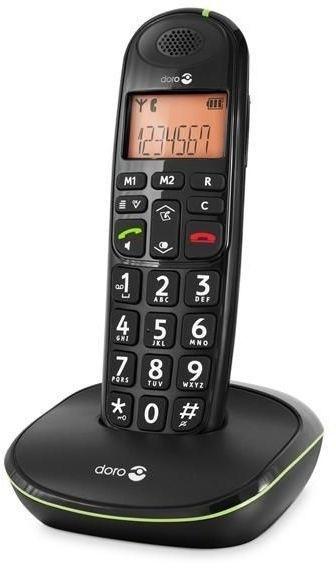 Loop telefoon voor slechthorenden, Doro PhoneEasy 100w zwart