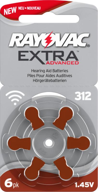 Hoorbatterijen Rayovac bruin R312 voor gehoorapparaat, Rayovac Extra Advanced