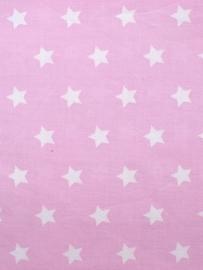 Roze stof met grote(re) witte ster